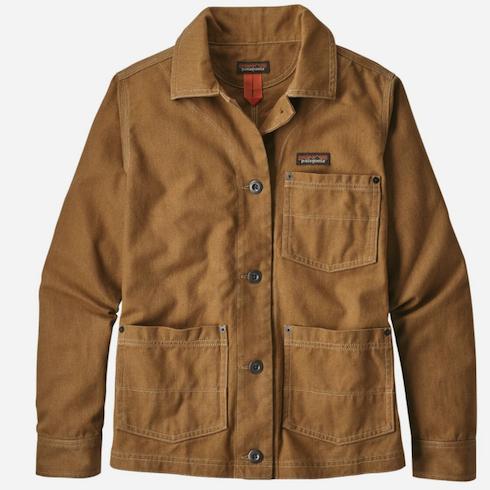 Camel brown canvas jacket