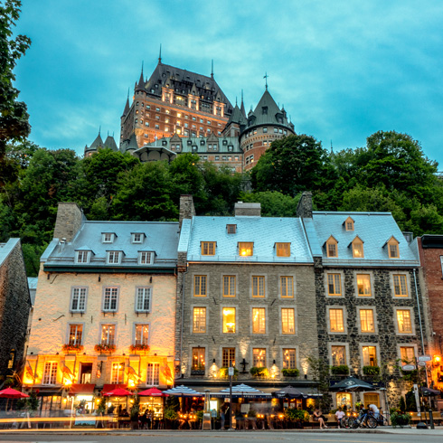 The Chateau Frontenac in Quebec City