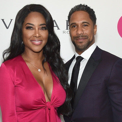 Kenya Moore and Marc Daly on the red carpet