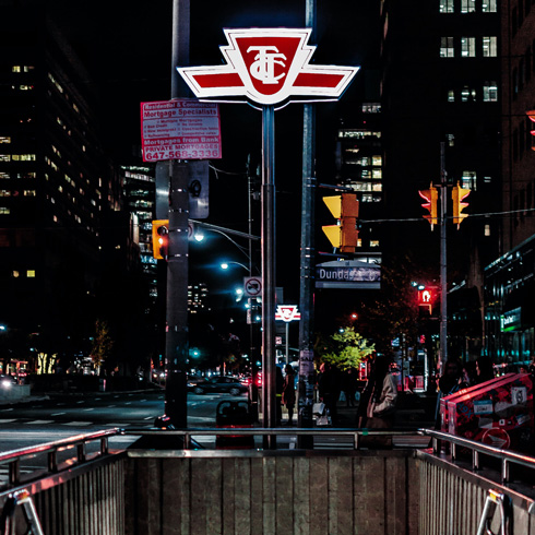 TTC sign in Toronto