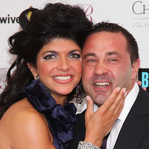 Teresa and Joe Giudice at the RHONJ season two premiere