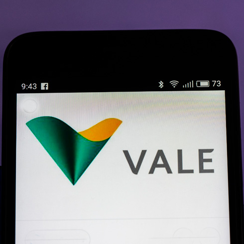 Vale logo on a mobile phone