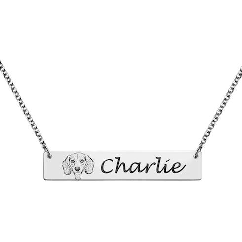 A dog namesake necklace