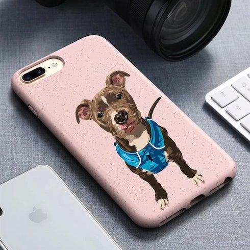 A custom dog phone case