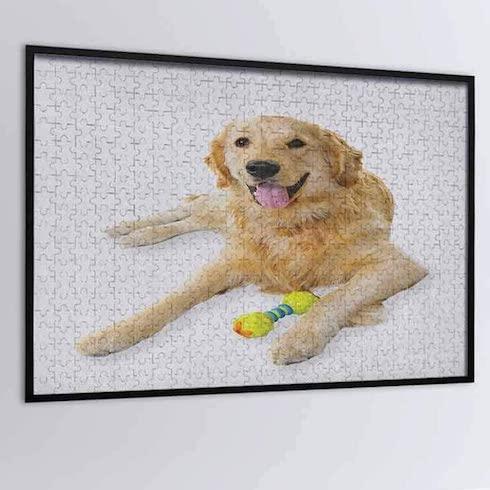 A custom dog puzzle