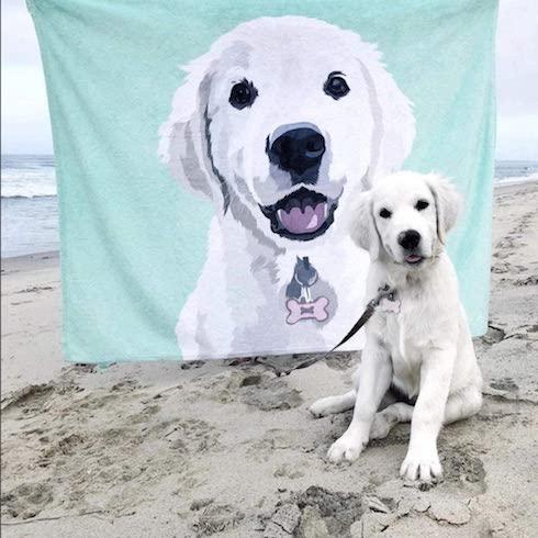 Customized dog blanket