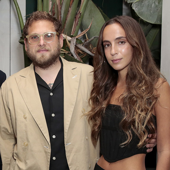 Jonah Hill and Gianna Santos at an event