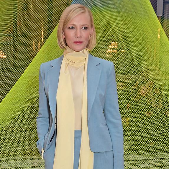 Cate Blanchett attends the Roksanda show during London Fashion Week February 2020