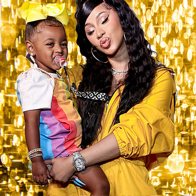 Cardi B with daughter Kulture