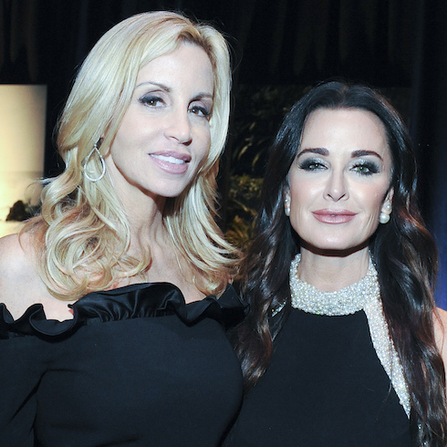 Camille Grammer and Kim Richards at a party