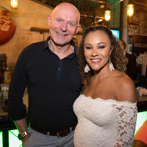 Ashley and Michael Darby pose together while pregnant