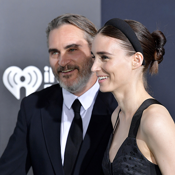 Joaquin Phoenix and Rooney Mara attend the premiere of Warner Bros Pictures