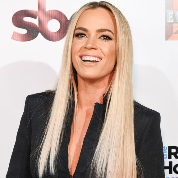 Teddi Mellencamp smiles wide at an event for The Real Housewives of Beverly Hills.