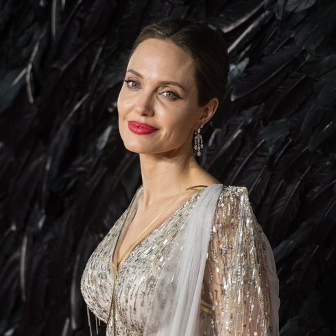 Angelina Jolie on the red carpet during a movie premiere