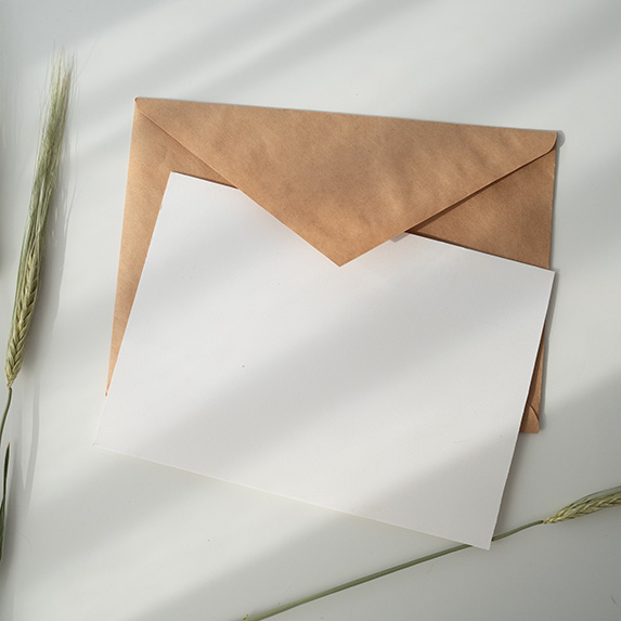 Letter with a brown envelope