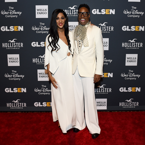 MJ Rodriguez and Billy Porter on the red carpet