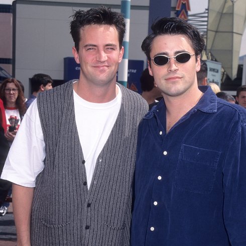 Matthew Perry and Matt LeBlanc on the red carpet in the 1990s