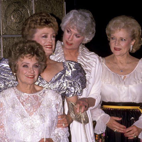Estelle Getty, Rue McClanahan, Bea Arthur and Betty White on the red carpet in the 1980s