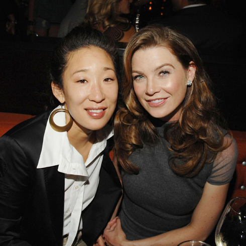 Sandra Oh and Ellen Pompeo together at an after-party
