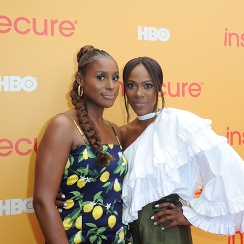Issa Rae and Yvonne Orji on the red carpet