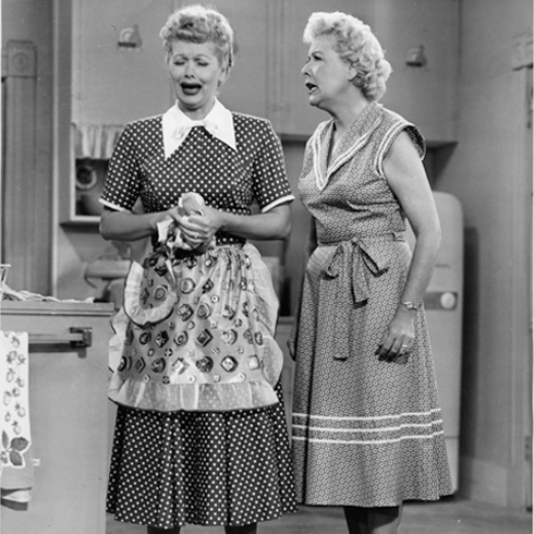 Lucille Ball and Vivian Vance in a still from the 1950s series