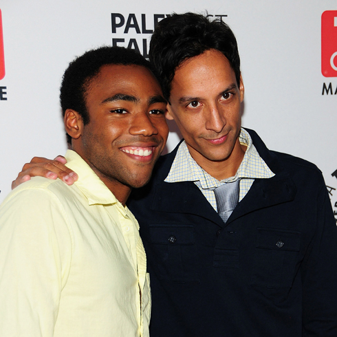 Donald Glover and Danny Pudi on the red carpet