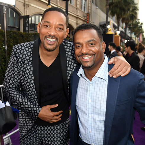 Will Smith and Alfonso Ribeiro on the red carpet in 2019