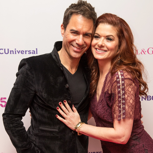 Eric McCormack and Debra Messing on the red carpet