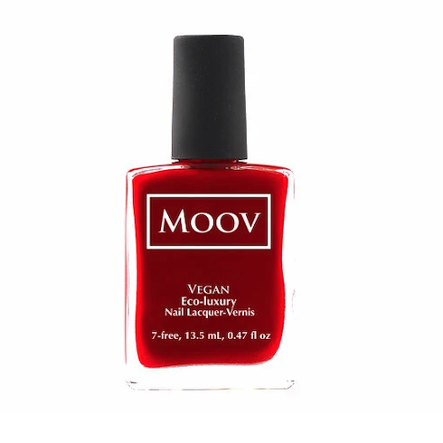 bright red nail polish