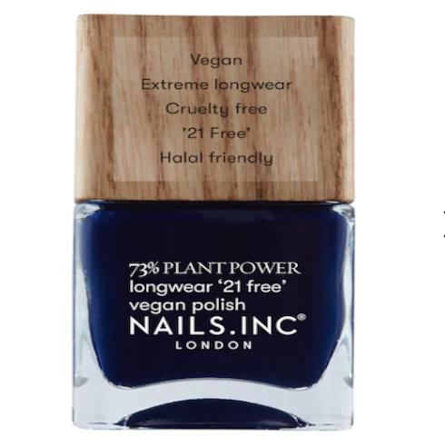 bottle of navy blue nail polish
