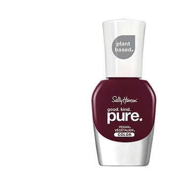 Bottle of dark purple nail polish