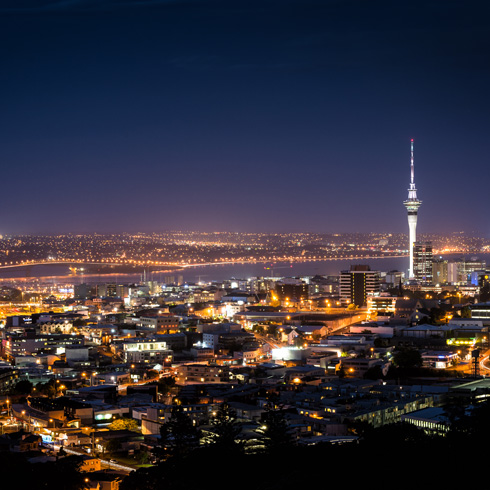 Auckland in the evening