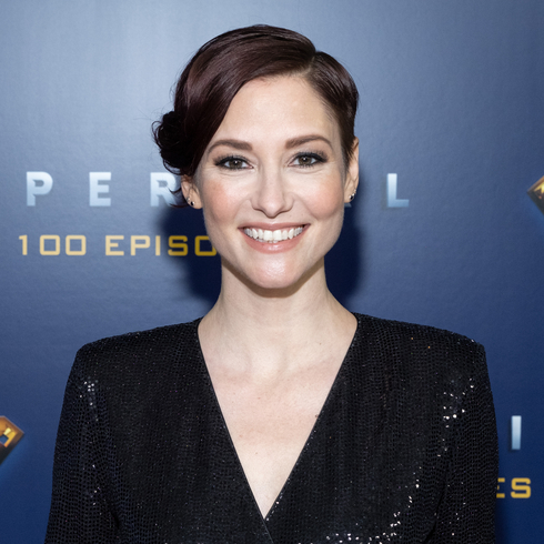 Chyler Leigh smiling at the camera