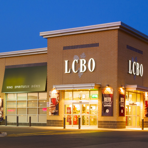 LCBO outlet in the evening