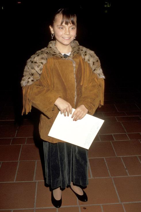 Christina Ricci attends her first film premiere in 1990
