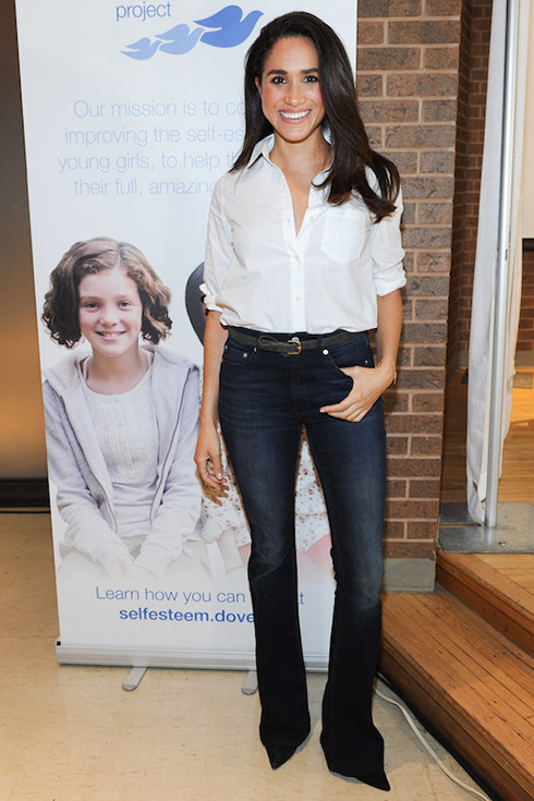 Meghan Markle, sharing the new Dove Self-Esteem Project resources with youth workers and helping young girls reach their full potential at Earl Bales Community Centre on October 6, 2015 in Toronto, Canada.