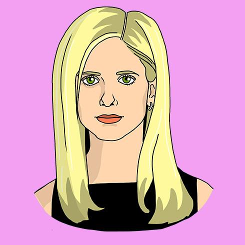 Illustration of Sarah Michelle Gellar (Buffy the Vampire Slayer)