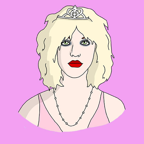 Illustration of classic Courtney Love