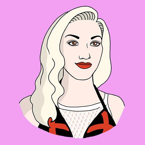 Illustration of Gwen Stefani