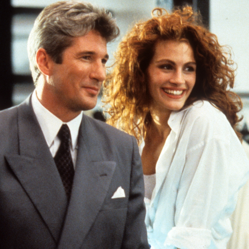 Pretty Woman promo shot featuring Richard Gere And Julia Roberts
