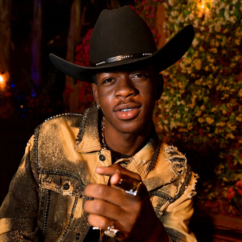 Lil Nas Z pointing at the camera