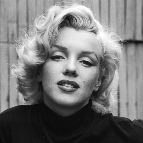 Classic black and white photo of Marilyn Monroe