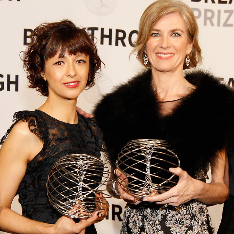 Universtiy Proffessor and Microbologist Emmanuelle Charpentier, University of California, Berkeley Professor of Chemistry Jennifer A. Doudna, receive award for their work in the health sciences