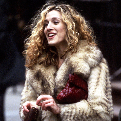 Sarah Jessica Parker on the set of Sex and the City