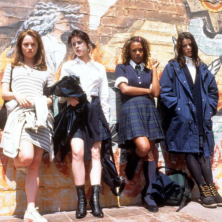 Robin Tunney, Fairuza Balk, Rachel True and Neve Campbell in a scene from the film 'The Craft', 1996.