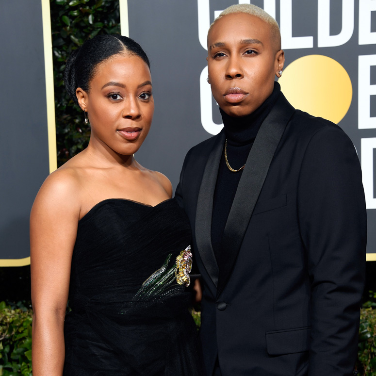 Lena Waithe and Alana Mayo on the red carpet at the Golden Globe Awards