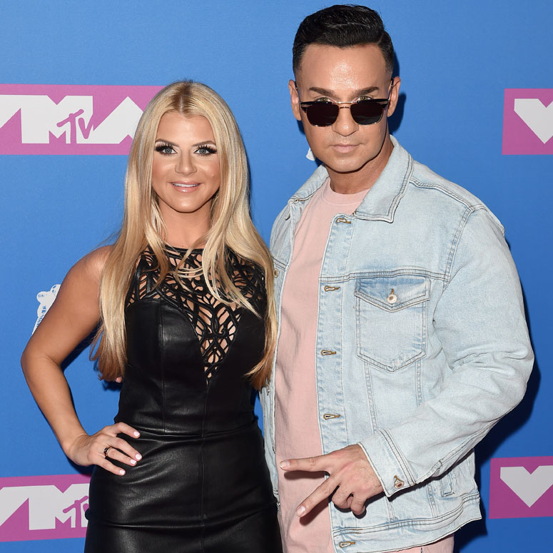 Mike 'The Situation' Sorrentino and his wife Lauren Pesce at a MTV event