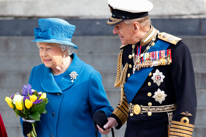 Queen Elizabeth and Prince Philip attend an event in 2015